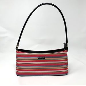 Vintage Kate Spade Purse Pink Striped Shoulder Bag